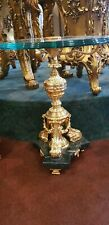 TABLE BAROQUE STYLE COFFEE TABLE GOLD  WITH GLASS TOP  #MB45
