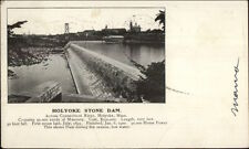 Holyoke MA Stone Dam c1905 UDB Postcard
