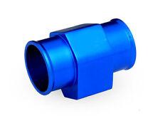 40MM Water Temp Temperature Gauge Radiator Hose Sensor Adaptor Pipe BLUE