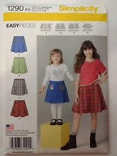 Simplicity 1290 Size 7-14 Girls' Set of Skirts Easy