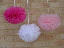 30x 3 sizes paper pom poms birthday wedding party anniversary hanging decoration