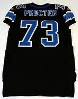 #73 Xavier Procter of Detroit Lions NFL Locker Room Game Issued Black Jersey
