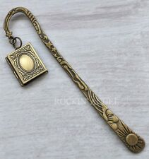 Vintage Bronze Style Photo Book Frame Locket Bookmark,  Ladies Girls Mens Gift