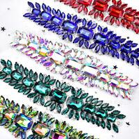 Rhinestone Crystal Applique Trim Chain Sew Wedding Dress Costume Accessory DIY