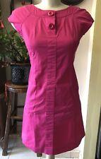 Rafaella Fuschia Pink Short Sleeve Women Mini Dress Size 6P