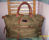 """ADRIENNE VITTADINI Horizontal Quilted Weekender Overnight Duffel Bag 18""""x12""""8"""""""