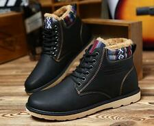 Men's Leather Winter Warm Boots Men Winter Boots Ankle Boots Mens Snow Shoes