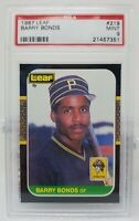 1987 Leaf Canadian Barry Bonds #219 PSA 9 Rookie pop /443 92 higher
