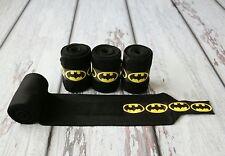 Horse Polo Leg Wraps Stable Wraps Set of 4 Batman with Ribbon