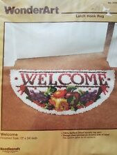 "WonderArt ""Welcome"" Latch Hook Rug Kit Size 17"" x 34"""