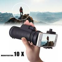 10x40 Zoom Hiking Monocular Telescope Lens Camera HD Scope Hunting Phone Holder