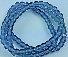 "Czech Glass Round Beads Size 4.00 mm "" GREY "" 100 pcs"