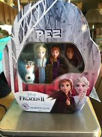 2019 DISNEY'S FROZEN 2 PEZ SET OF 4 - ANNA ELSA KRISTOFF & MINI OLAF GIFT TIN