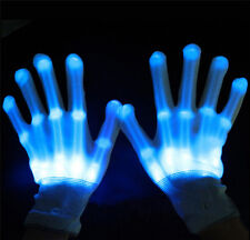 LED Flashing Finger Light Up Gloves Colorful Lighting for Rave Party Halloween