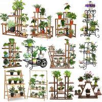 17 Style Plant Stand Flower Planter Holder Rack Shelf Windowsill Corner Outdoor