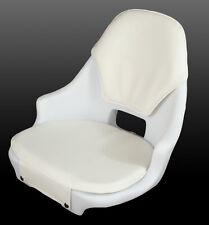 Todd Freeport White Helm Seat - Seat with Cushions - Boat Chair - 971537-LC
