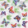 4 Motivservietten Servietten Napkins Tovaglioli Schmetterlinge (981)