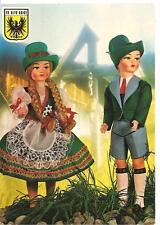 TRENTINO ALTO ADIGE - Costumi regionali in cartolina !!!! Bambole EROS - Firenze