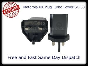 GENUINE MOTOROLA TURBO-POWER SC-53 SC-63 SC-43 UK Plug Adapters UK Stock