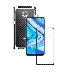 1+1 FREE,Pelicula Protectora Skin Carbono Carcasa SPL,para Xiaomi Redmi Note 9S