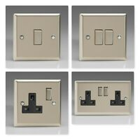 Varilight Classic Satin Chrome Light Switches & Plug Sockets * SALE CLEARANCE *