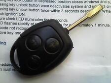 Ford focus mondeo fiesta puma etc 2S6T15K601AB 3 buton remote alarm uncut key fob