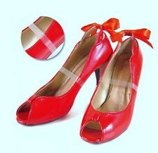 Clear Invisible High Heel Shoe Straps Mules Slips-Ons Transparent Women Insoles