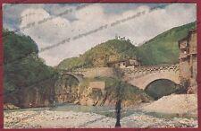 BERGAMO SEDRINA 01 PONTE fiume BREMBO Cartolina viaggiata 1922