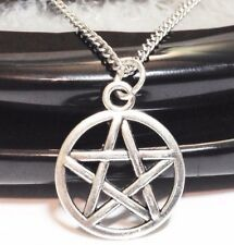 "PENTAGRAM_Small Pendant on 18"" Chain Necklace_Wiccan Pentacle Witch Pagan_114N"