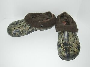 CROCS Mammoth Evo Camouflage Camo Realtree Fur Lined Clog Shoes Men 9 Women 11
