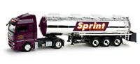 truck 1/87 HERPA 158640 MAN TGX XLX CON TRAILER CISTERNA SPRINT  NEW BOX