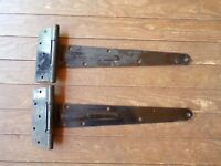 2 Large Stanley BB1458 Hinges Barn Door Cabin Shed Gate Rustic Strap Hinges