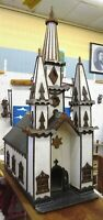 Church Replica in Miniature Hand Crafted Gothic Revival Antique - PICK-UP ONLY