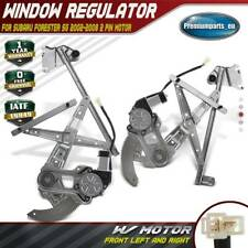 2x Window Regulators with Motors Front for Subaru Forester SG 02-08 2 Pin Motor