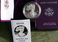 1986 AMERICAN SILVER EAGLE PROOF DOLLAR US Mint ASE Coin with Box and COA $1