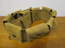 Pre Wwi Us Wide Mills Rimless Eagle Snap Ammo Cartridge Belt / Unit Marked!