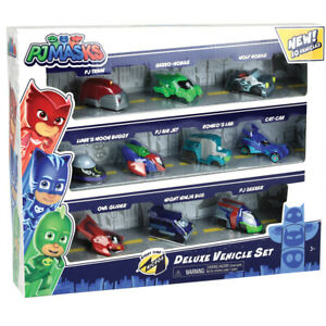 PJ Masks Night Time Micros Deluxe Vehicle Set 10 Piece Set