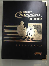 1993 93-94 Kraft Hockey Champions complete set in album w/Gretzky, Lemieux, Roy
