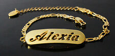ALEXIA - Bracelet With Name - 18ct Yellow Gold Plated - Gifts For Her - Fashion