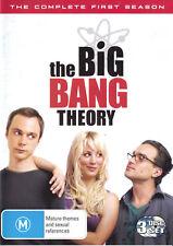 The Big Bang Theory Season 1 DVD, 2009, 3-Disc Set ~ Region 4 PAL ~ Like New