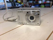 Sony Cyber-shot DSC-W70 7.2MP Digital Camera - Silver - Untested - No Charger