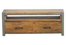 TV-Kommode Sideboard Lowboard Teakholz massiv Vintage-Antik-Stil für Wohnzimmer