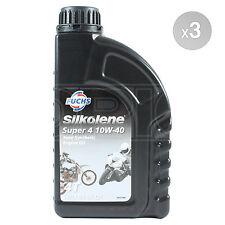 Silkolene Super 4 10W-40 4-Stroke 4T 10W40 Motorcycle Oil 3 x 1 Litre 3L