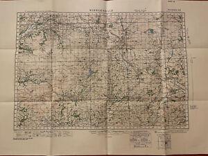 Map of Ribblesdale WW2 WAR 1940 Ordnance Survey Linen Backed Sheet #25 Rare