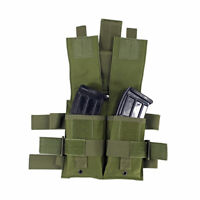 Tactical Molle Drop Leg Panel Double Mag Pouch Utility Pouch Bag
