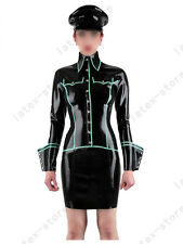 662 Latex Rubber Gummi Military shirt Dress uniform skirt customized 0.4mm suit