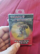 TRANSFORMERS, Playing Cards (Sealed), Hasbro 2002, w Flicker Action Box MEGATRON