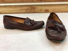 Daniele Lepori Kiltie Tassel Loafers Brown Leather Mens Size 10 M Italy