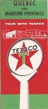 1957 McCOLL-FRONTENAC TEXACO OIL Road Map QUEBEC & MARITIME PROVINCES Canada