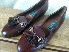 Cole Haan Kiltie Italy Leather Tassel Horsebit Slip On Dress Flats Women's 6 B